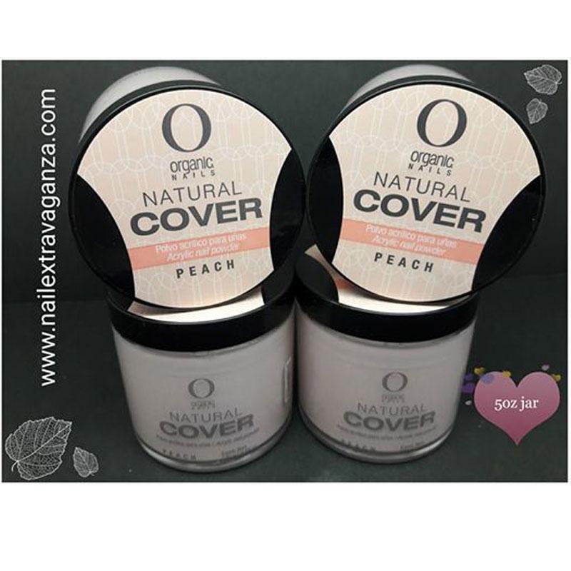Organic Nails Acrylic Powder Natural Peach Color 5oz - Nail Extravaganza