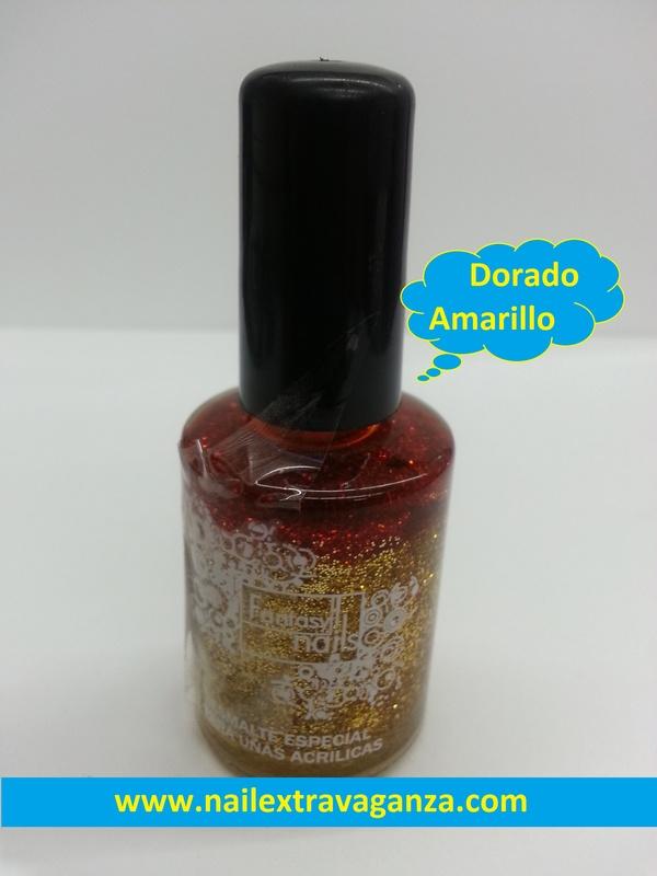 24 Fantasy Nails Escarcha Dorado Amarillo - Nail Extravaganza