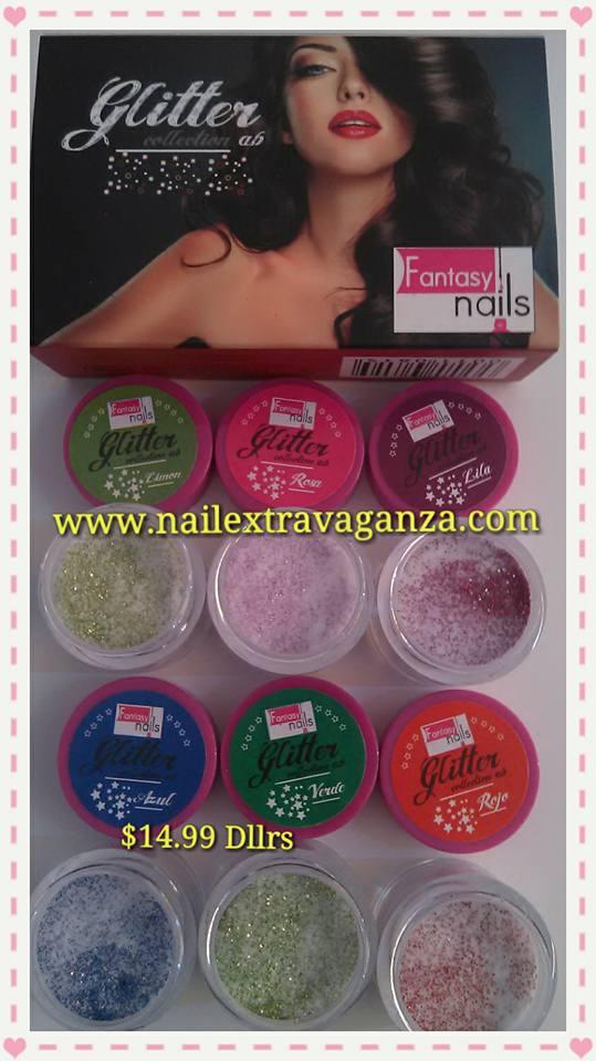 A00 Coleccion de Acrilicos Glitter de Fantasy Nails de Sinaloa ...