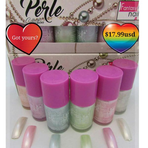 0 Esmaltes PERLE Collection (6 color bottles 15ml each)