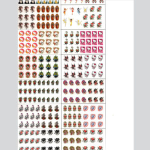 002-Sticker-sheet-more-than-20-different-designs-(8in-x-15in)