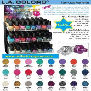 L. A. Color Light Cooper (13ml) - Nail Extravaganza
