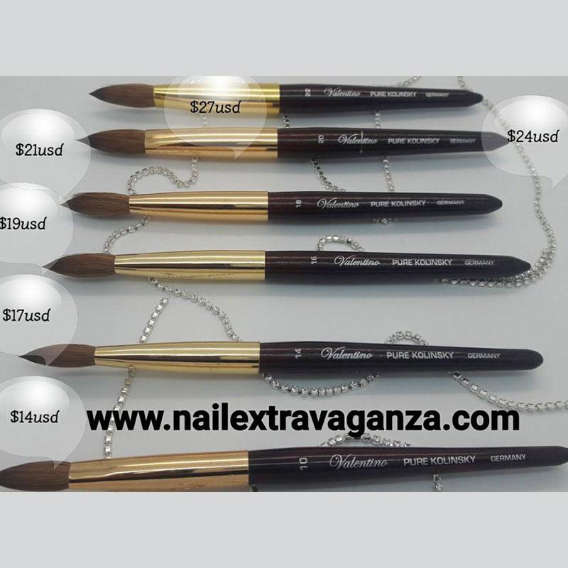 0 Professional Nail Brush Kolonski #16 Valentino Brand - Nail ...