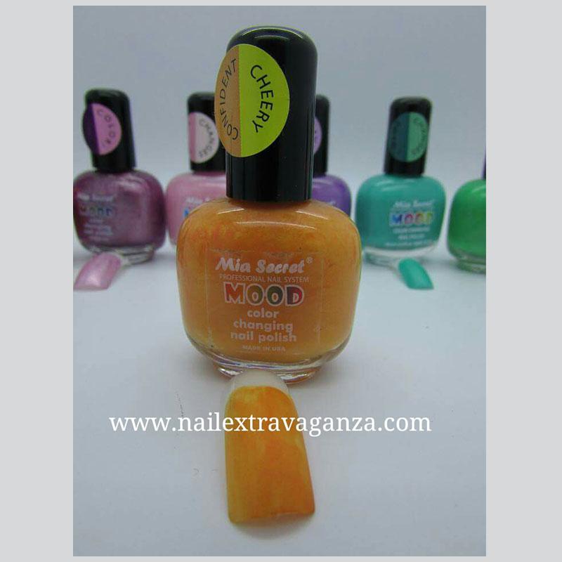 Mood Changing Color Nail Polish by Mia Secret (15ml) (Papaya to ...