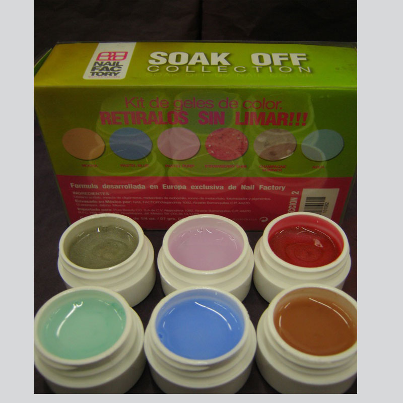 Soak Off Gel Collection (6 containers of 7.5grms) Collection #2 ...