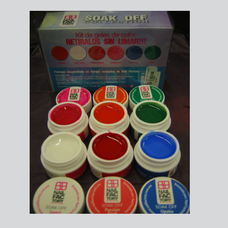 Soak Off Gel Collection (6 containers of 7.5grms) Collection #3 ...