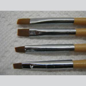 Paint or Acrylic Set of Nail Brushes (Set de 4 Pinceles)-1