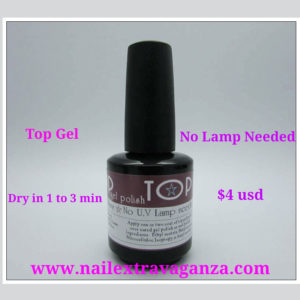 Top Gel dries instanly no lamp needed
