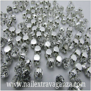 (f)-Crystal-with-metal-base-silver-color-4mm-(2-per-bag)