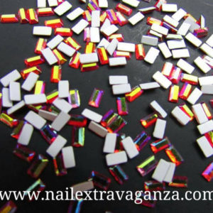 (f)-Crystals-Rectangle-Rojizo-(10-per-1-bag)
