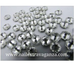 (f)-Flower-shape-crystal-with-metal-base-Silver-color-(4-per-bag)