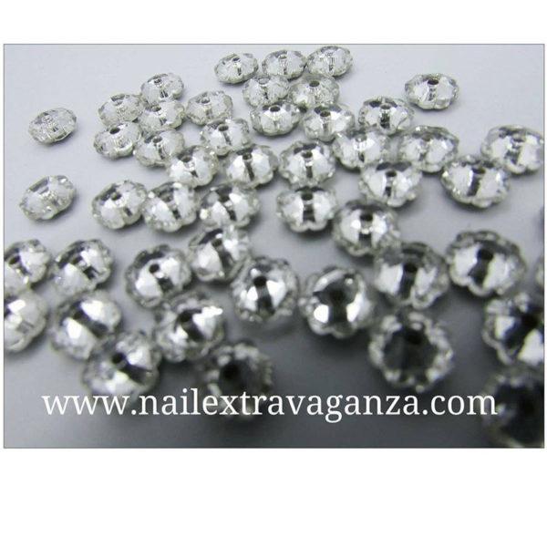 (f)-Flower-shape-crystal-with-metal-base-Silver-color-(4-per-bag)
