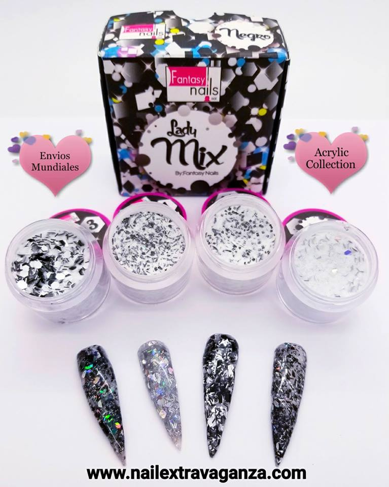 A00 Lady Mix Acrylic Black Collection from Fantasy Nails - Nail ...