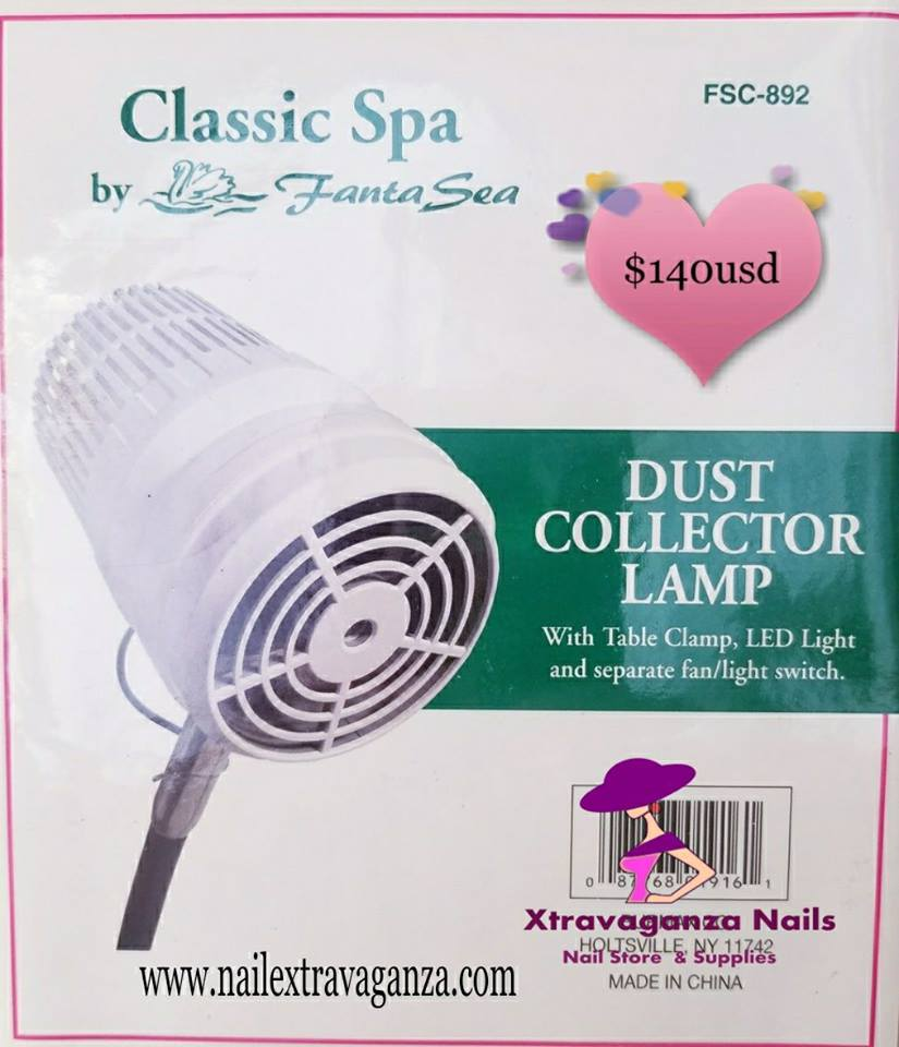 Dust Collector and Lamp - Nail Extravaganza
