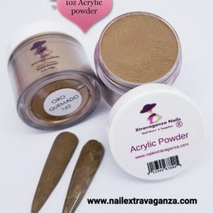 #162 Acrylic Powder 1oz jar Extravaganza Oro Quemado