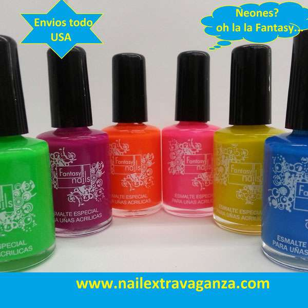 #0 Fantasy Nails Bases Neones (15ml) Choose your color