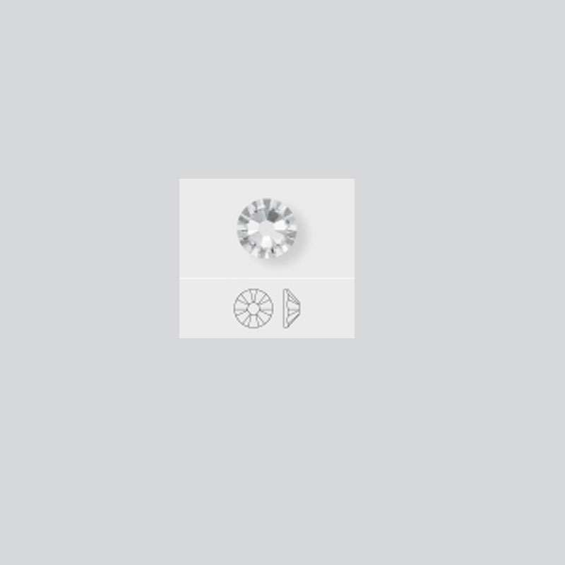 (a) Swarovski flat back #12 140pz color AB (tornasol)