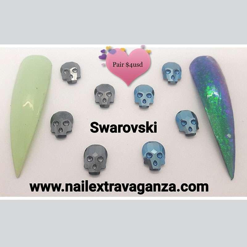 (f) Skull Swarovski Crystals (2pzs with purchased)