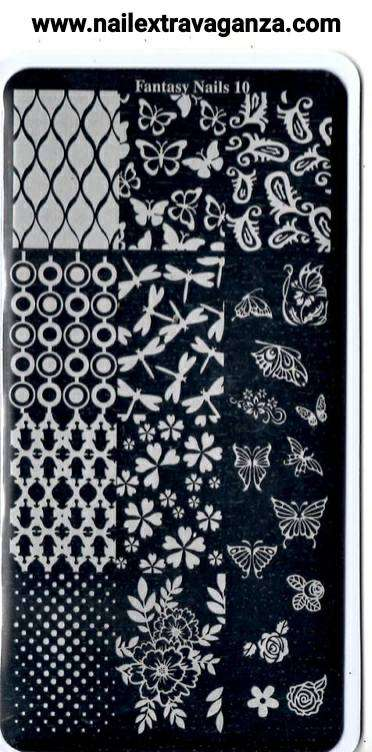 Fantasy Nails Stamping Plate (Choose from #6 to #10)