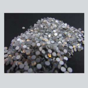 Opal White Crystals Flatback Rhimestones ss#10 1440 pzs.