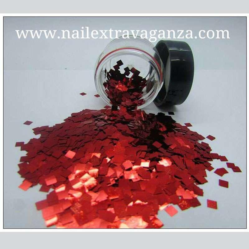 Square Glitter Red 1/4 jar