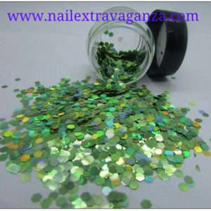 Hexagon Glitter Medium Siza Green 1/4oz
