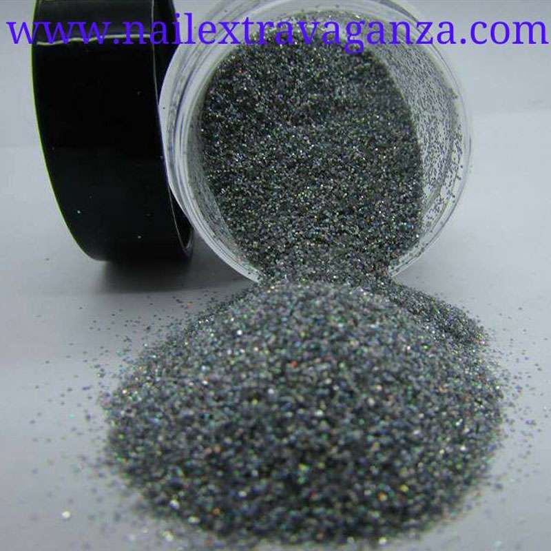Gray Fine Glitter 1/4oz jar