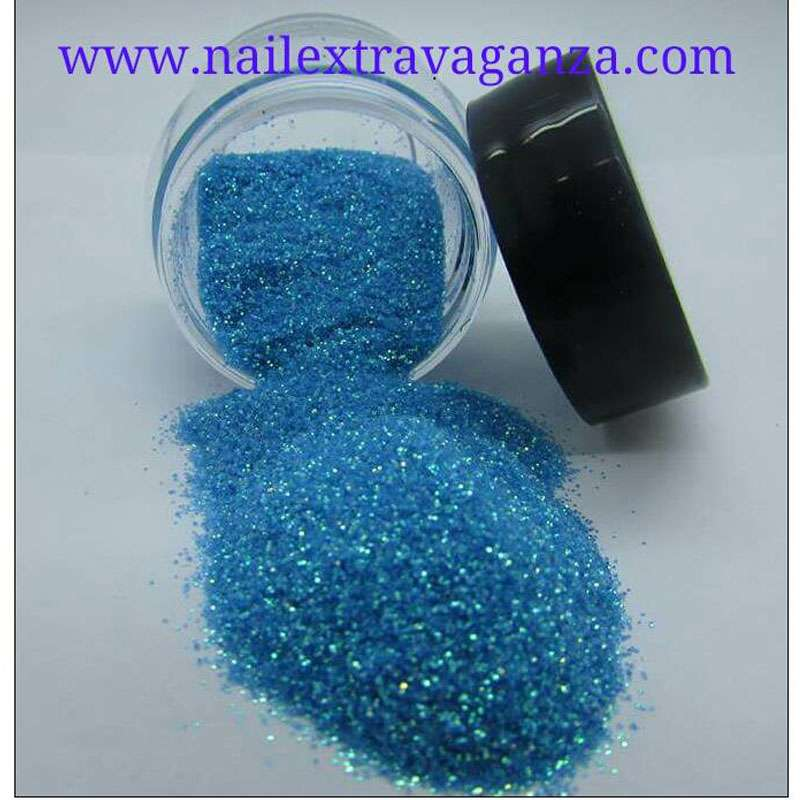 Fine Blue Glitter 1/4oz jar