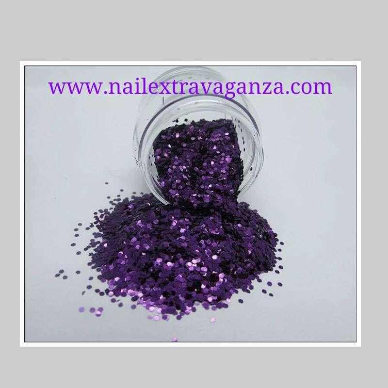 Hexagon Purple Glitter 1/4oz jar
