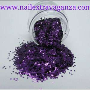 Hexagon Purple Glitter 1/4oz jar