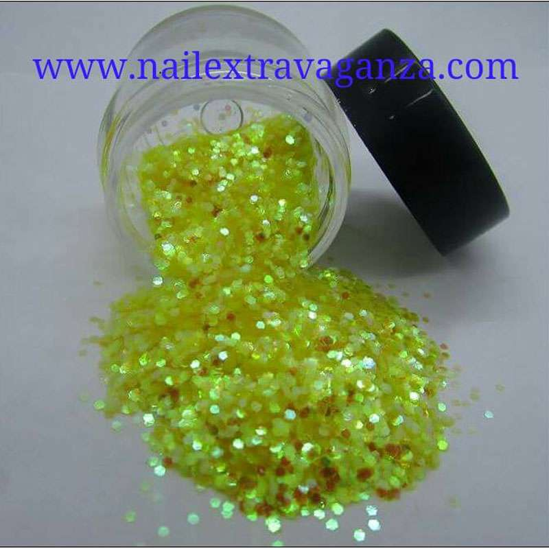 Mini Hexagon Glitter 1/4oz jar