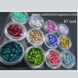 Rombos Glitters (12 colors, 4.5 jars)