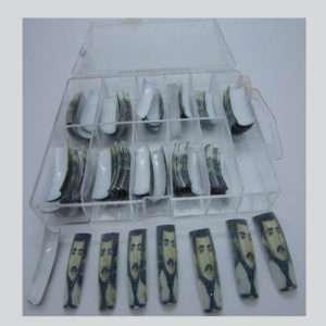 Salon Nail Tips with Malverde Design 100 pzs. box