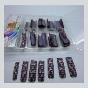 Salon Nail tips with Coco Channel Design 100 pzs. box