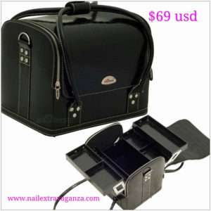 Black Roll Top Makeup Case - C3025