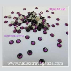 Swarovski #16 Purple Color Flat Back (30 pzs)