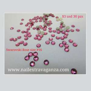 Swarovski #16 Rose Color Flat Back (30 pzs)