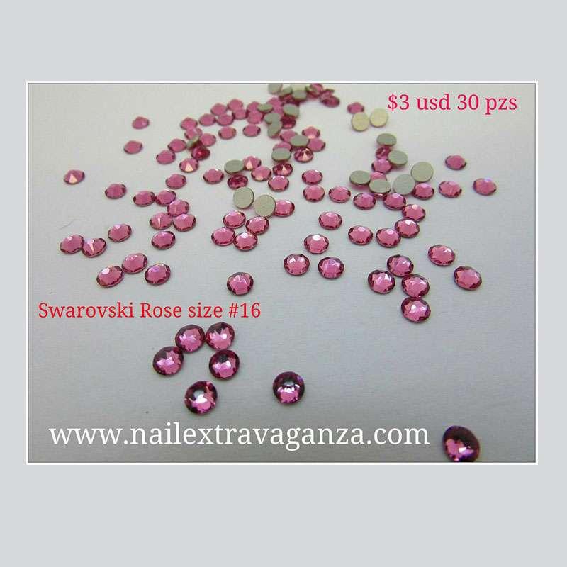 Swarovski #16 Rose Color Flat Back (30 pzs)