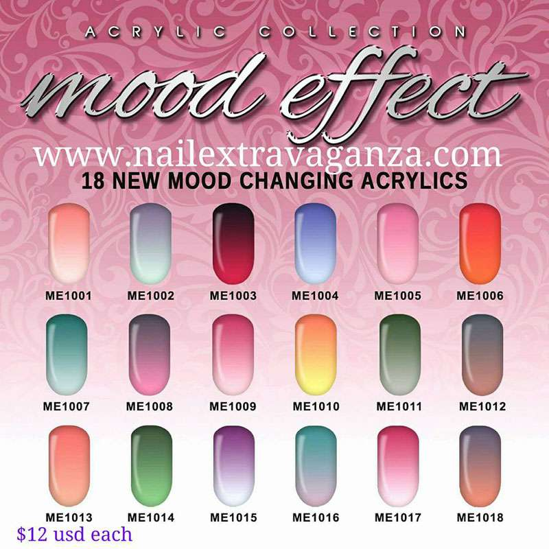 Glam and glits mood effect changing color acrylics - Colors effect on mood ...