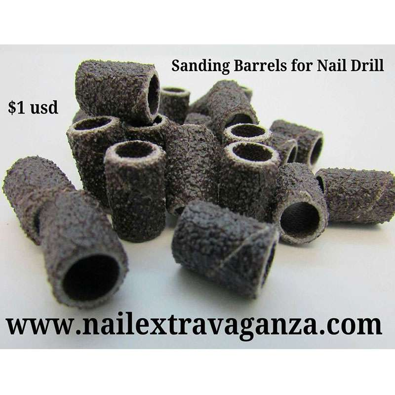 Sanding Barrels for Nail Drill (10 pieces bag)