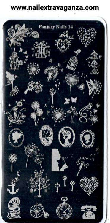 Fantasy Nails Stamping Plate (Choose from #11 to #15)