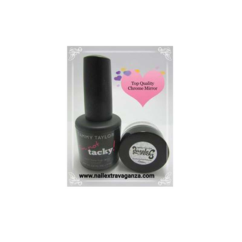 Pigment Chrome Mirror Kit by Tammy Taylor (I am Not Tacky Top Gel and Chrome Powder)