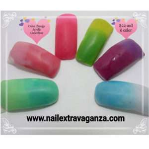 # Change Color Acrylic Collection (6 different color jars 1/4oz each)