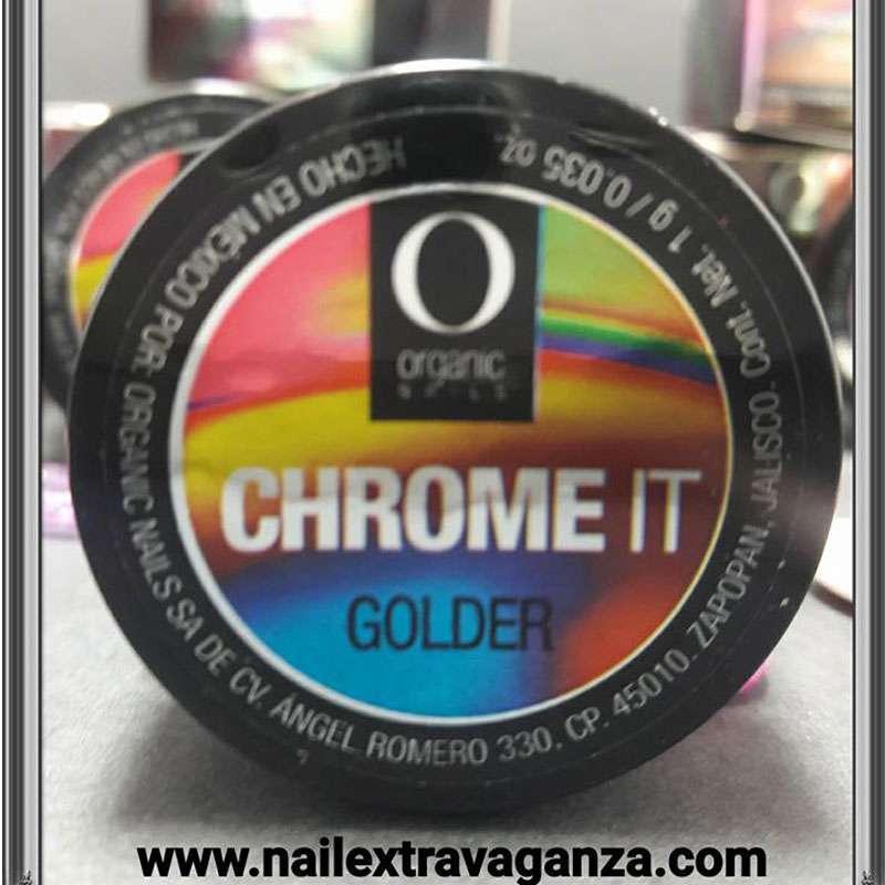 Pigment Organic Nails Cromeit (1grm Golden color)