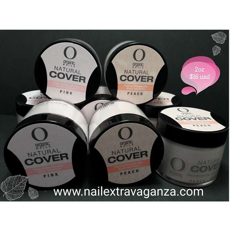 Organic Nails Acrylic Powder (Natural Peach Or Natural Pink Color) 2oz each