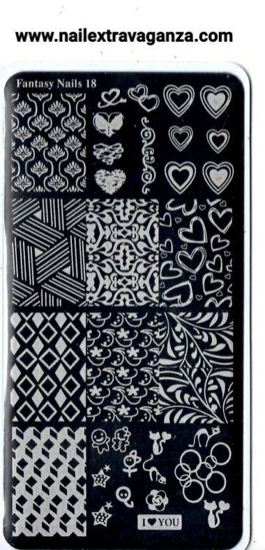Fantasy Nails Stamping Plate (Choose from #16 to #20)