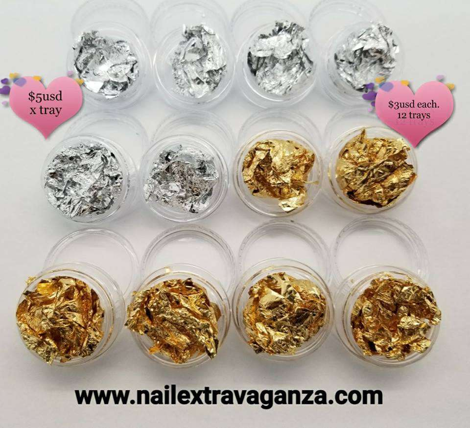 Decoration Tray Flake Foil with 12 containers