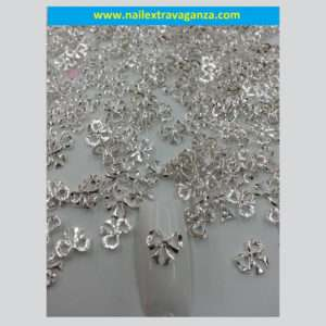 Nail Bows decoration (Silver Color) (2 per bag)