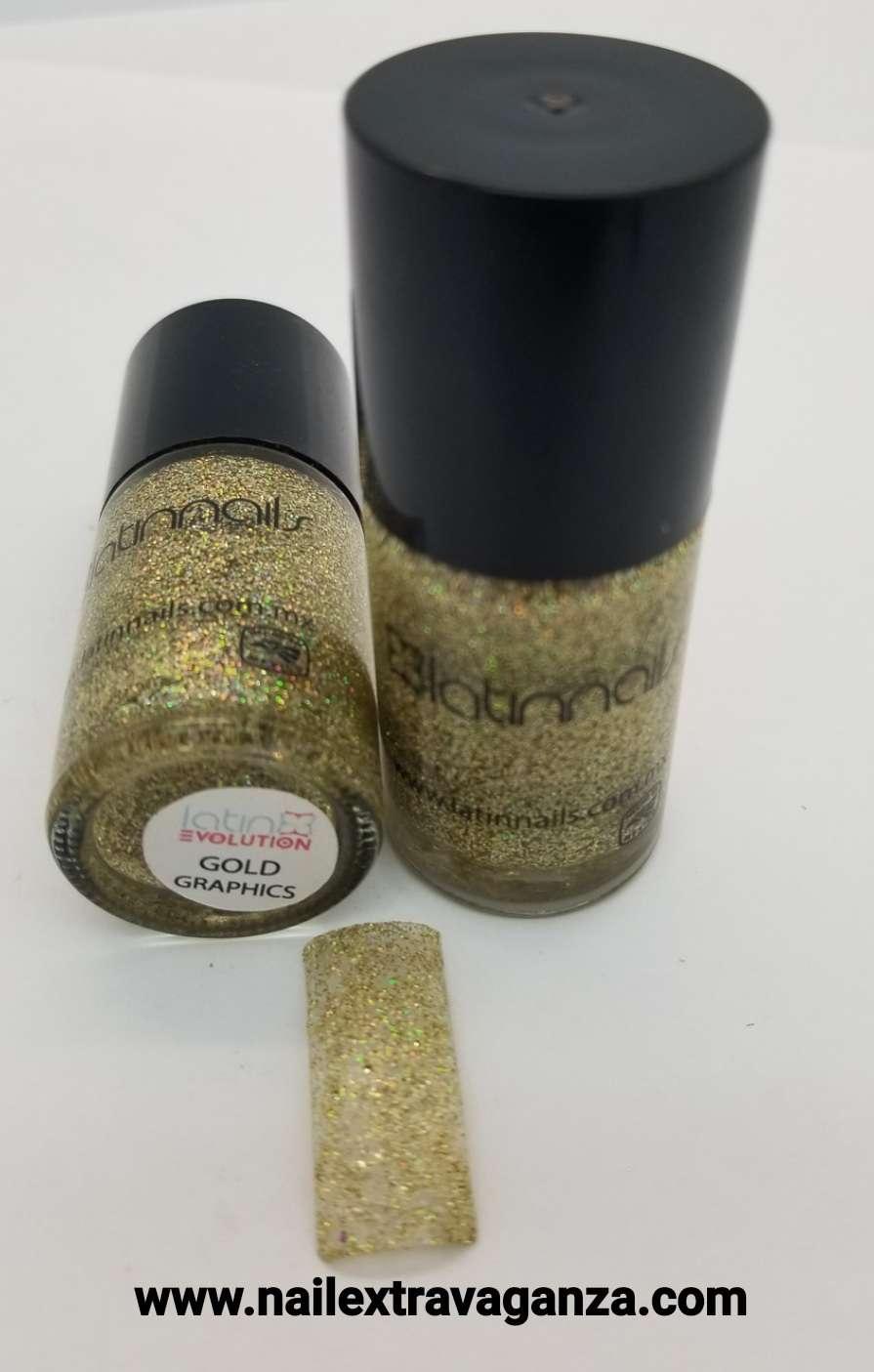 Latin Nails Glitter Golg Graphics 15ml