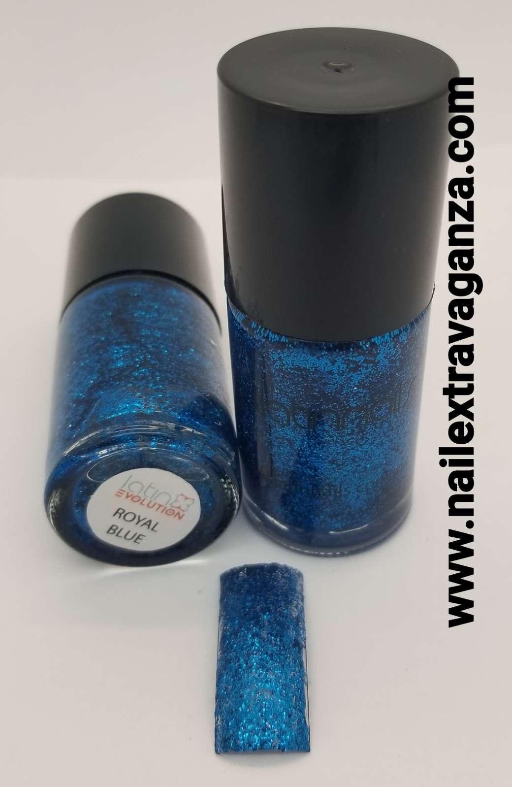 Latin Nails Glitter Royal Blue 15ml